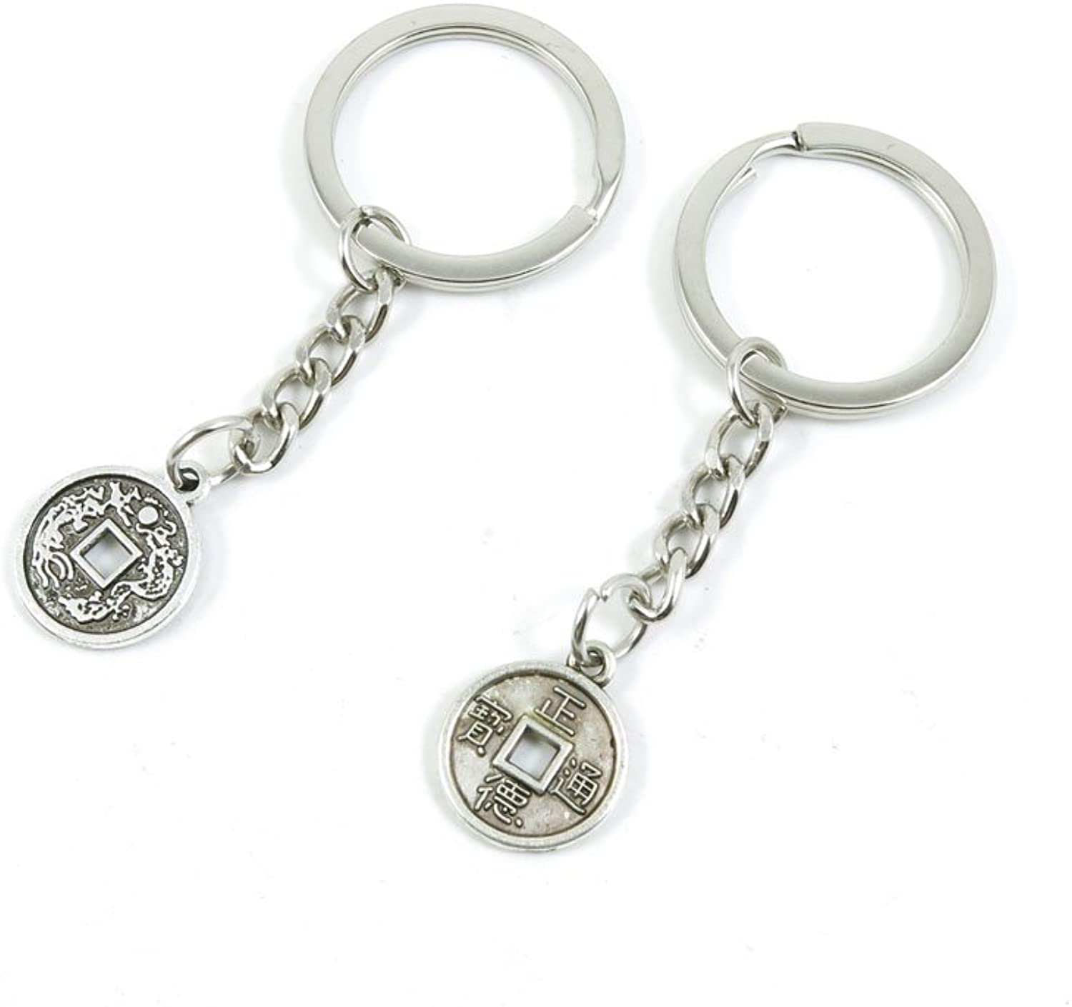 230 Pieces Fashion Jewelry Keyring Keychain Door Car Key Tag Ring Chain Supplier Supply Wholesale Bulk Lots L5HO4 Cash Coins