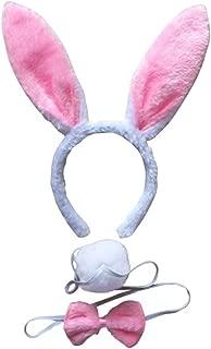 BinaryABC Bunny Rabbit Costume Set,Ears Headband Bow Ties Tail Set,Halloween Costume Assesories