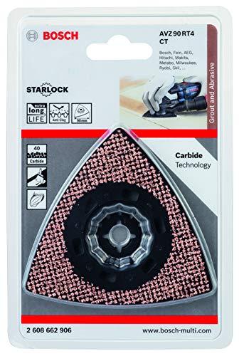 Bosch Professional 2608662906 Schleifplatte AVZ 90 RT4 Carbide RIFF (Starlock, Körnung 40, Ø 90 mm, Zubehör Multifunktionswerkzeug), 1 W, 1 V