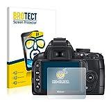BROTECT Protector Pantalla Compatible con Nikon D3000 Protector Transparente (2 Unidades) Anti-Huellas