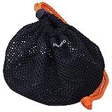 ウミネコ(UMiNEKO) アウトドア 袋 収納 収納袋 ドローコード付 メッシュ キャンプ 巾着袋