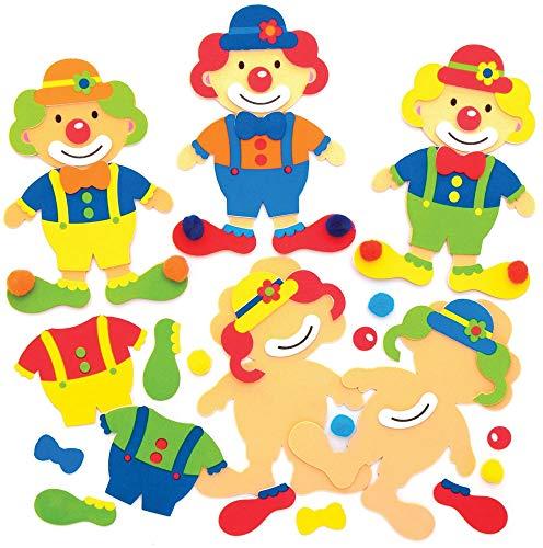 """Baker Ross Mix & Match-Deko-Magnete """"Clown"""", für Kinder-Kunsthandwerksprojekte (8 Stück), AT901"""