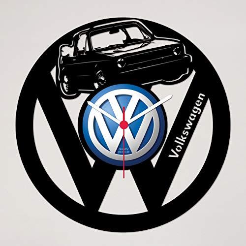 Gravinci.de Schallplatten-Wanduhr VW Golf 1 Cabrio