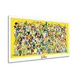 RINWUNS Wall Art The Simpsons Poster Character Collection Canvas Print Cartoon Wall Painting Giclee Artwork Picture Modern Home Decor For Living Room Bedroom Unframed 1 PC 12x18inch (Only Canvas)