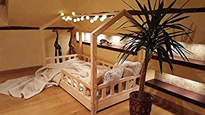 Oliveo House bed with barriers, children bed house, bed for children, kids bed,home bed