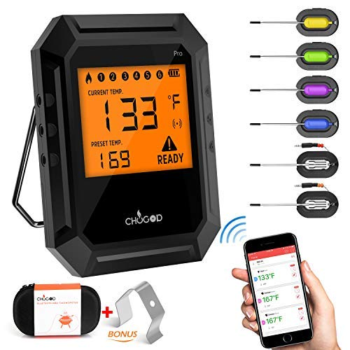 HAUEA Meat Thermometer Bluetooth, Smoking Thermometer Smart...