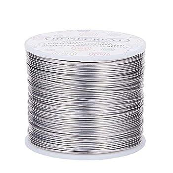 BENECREAT 18 Gauge 492 Feet Tarnish Resistant Aluminum Wire Primary Color for Jewelry Beading Craft Sculpting Model Skeleton