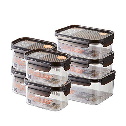 LOCK & LOCK Vorratsdosen 7er Set BISFREE, bpa frei & luftdicht - Frischhaltedosen mit Deckel für Kühlschrank, Tiefkühler & Mikrowelle geeignet