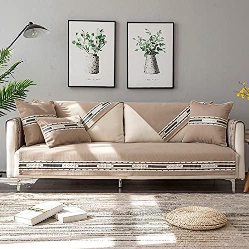rutschfest Sofa Sofabezug, Sofa Überwürfe Sommerwäsche-Sofakissen für Kinder, Liebessitz Stuhl Sofa Sofa Couch Möbelabdeckung Protector (Verkauft von Stück/Nicht alle Set)-Braun_70 * 180 cm.