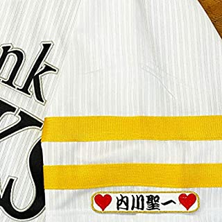 ソフトバンク ホークス 刺繍ワッペン 内川 聖一 ネーム 袖 刺繍