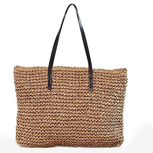 Yidajiu handtas dames strotas dames handtas Bohemian strandtas van wilgentenen handgemaakte schoudertassen gemaakt van rotan