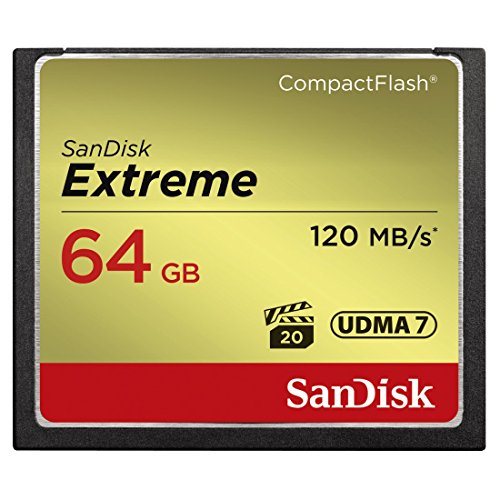 SanDisk SDCFXSB-064G-G46 Extreme CompactFlash Scheda di Memoria 64GB UDMA-7 120MB/S