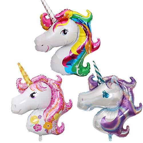 whatUneed Globos Principales del Unicornio, Globo de la Hoja del Partido, Juguetes para la Boda, Fiesta de cumpleaños de niños de la decoración del Regalo de los niños