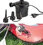 AGT Luftmatratzenpumpe: Elektrische Schnell-Luftpumpe mit 3 Aufsätzen, für 230 V, 150 Watt (Elektronische Luftpumpe)