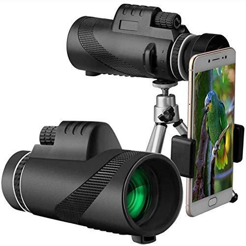HaoLi Monoculars 40X60 Telescopio monocular para teléfono móvil, Alta definición, Poca luz, Impermeable, Concierto para Adultos, Gafas portátiles para Fotos para niños