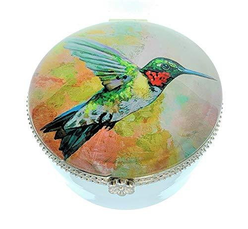 Value Arts Colorful - Caja para Joyas, cerámica y Cristal, 5,7 cm de diámetro