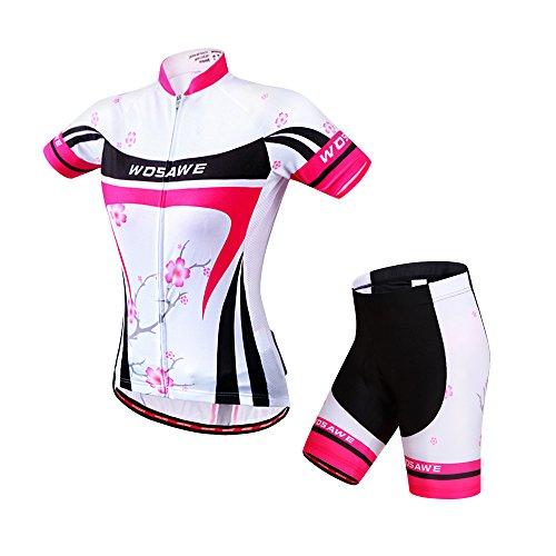 WOSAWE Combinaisons de Cyclisme Respirant Manches...