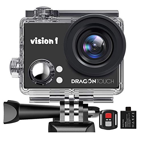 Dragon Touch 1080P Action Camera 12MP Underwater Waterproof Camcorder with 2