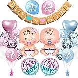 Guirnalda de decoración para fiestas de género, fiesta de bienvenida de bebé, guirnalda de decoración para fiestas de bebés, para niños y niñas