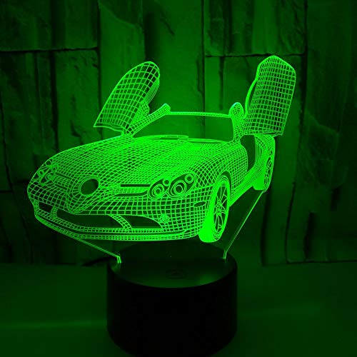 New Creative Car Colorful 3D Table Lamp Sports Car Colorful Night Light Kids Gift 3D Night Light