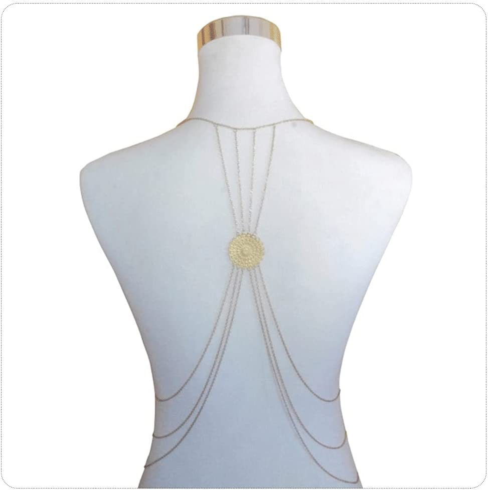 YFQHDD Layered Tassel Neck Metal Body Hollow Flower Chain Selling and selling Finally popular brand Pendan