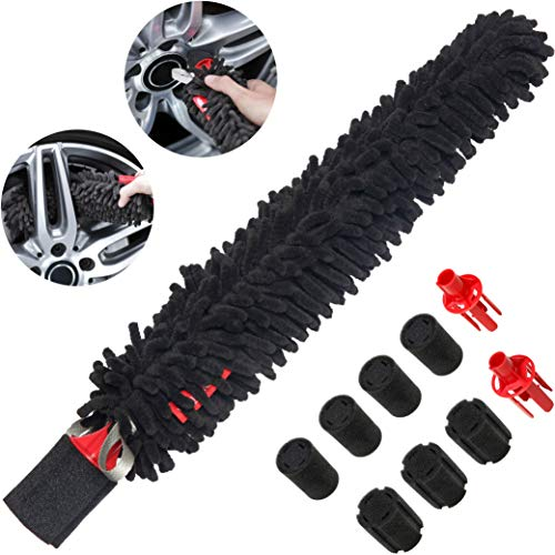 WOOLLYWORMIT Wheel Brush, Handle-Less Auto and Car Detailing...
