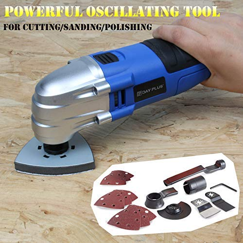 Great Deal! Electric Oscillating Multifunction Power Tool 1.5A 180W Oscillating Tool 2.8° Oscillati...