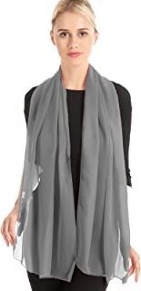 Yeieeo Silk Long Scarf Solid Color Scarves Lightweight Scarfs for Women