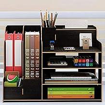 Multi-functie Desktop Organizer Houten Storage Box Office File lade Verstelbare Wood vertoningsplank Opslag Planken (Color...
