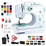 Portable Sewing Machine for Beginners, Household Sewing Machine for Adults & Kids, Multi Functional Electric Crafting Mending For Kinds Of Cloth, 12 Stitches/2 Speeds/Foot Pedal/Updated Accessories