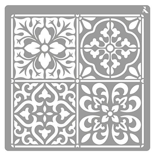 Plantilla Stencil St-28 Mosaique 20x20 CM La Pajarita Especial Para Chalk Paint y Pintura Tela