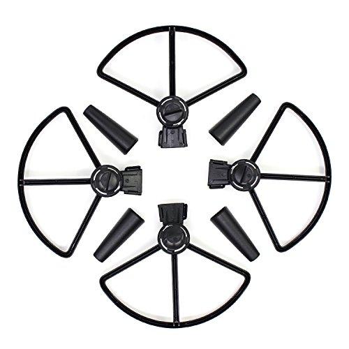 KEESIN DJI Spark Propeller Guard Snelle introductie Prop Blade Wächter met Landing Gear Extender bescherming accessoires voor DJI Spark Drone zwart