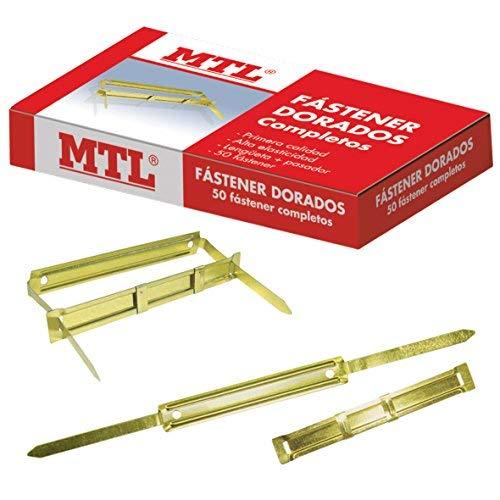 MTL 79190 - Pack de 50 fasteners, color dorado