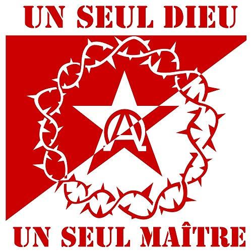 magFlags Drapeau Large L anarchisme chrétien | 1.35m² | 120x120cm