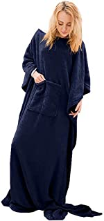 Chemstar Fleece Wearable Blanket with Sleeves, Front Pocket Foot Pocket for Women Men, Super Soft Warm and Cozy