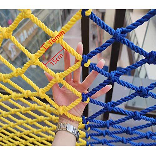 ETZBQ Climbing Frame Net for Kids, Climbing Net for Adults Climbing Kids Climb Wall Cargo Playground Rock Tree Adult Rope Netting Dia 16 mm 15cm Rope Ladder Protection Net(1 * 2m(3.9 * 6.6ft))