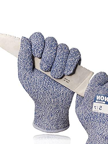 LANON Schnittfeste Handschuhe, Lebensmittelqualität, Stufe 5, für Küche, Mandoline, Fischfilet, Austern-Shucking, Fleischschneiden, Größe XL
