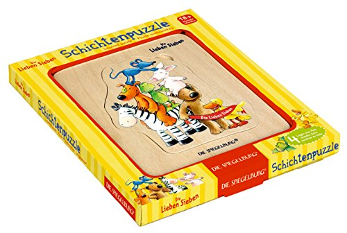 The Friendly Seven Die Lieben Sieben 4Stück Les Sept Copains Layered Puzzle, 15x 17x 2cm, Modell # 11999