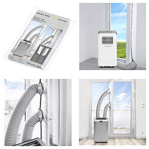 TROTEC AirLock 1000 Hot Air Stop Tür- und Fensterabdichtung für mobile Klimageräte, Klimaanlagen und Ablufttrockner