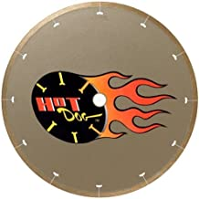 MK Diamond 158436 MK-225 Hot Dog 10-Inch Wet Cutting Continuous Rim Diamond Saw Blade with 5/8-Inch Arbor for Porcelain and Vitreous Tile