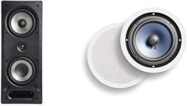 Polk Audio 265-RT 3-Way in-Wall Speaker & Audio RC80i 2-way Premium In-Ceiling 8