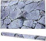 Etiqueta engomada del Fondo del Acuario del día de San Valentín romántico, Pegatina de Acuario de Piedra Roca no tóxica de PVC, Etiqueta engomada del Acuario de Piedra de Roca de Fondo, para Acuario