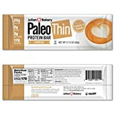 Julian Bakery Paleo Thin Protein Bar | Espresso | Egg White Protein | 20g Protein | 2 Net Carbs, 2.12 Ounce (Pack of 12)