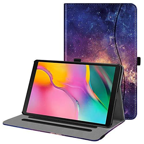 Fintie Hülle für Samsung Galaxy Tab A 10,1 2019 - Multi-Winkel Betrachtung Kunstleder Schutzhülle mit Dokumentschlitze für Samsung Tab A 10.1 Zoll SM-T510/T515 2019 Tablet, Die Galaxie