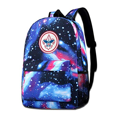 AOOEDM School Bag,Scouts School Backpack Galaxy Starry Sky Book Bag Kids Boys Girls Daypack