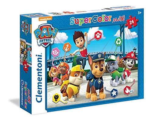 Clementoni- Paw Patrol Supercolor Puzzle, No Color, 24 Pezzi, 24049