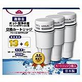 / イオングループ TV-13-WPPC3P/高除去 ポット型浄水器 交換カートリッジ(3個入り)