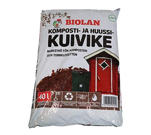 Biolan Kompoststreu für Komposttoiletten (Rindenmulch)