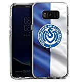 DeinDesign Samsung Galaxy S8 Plus Bumper Hülle transparent Bumper Case Schutzhülle MSV Duisburg Fahne Fussball Bundesliga
