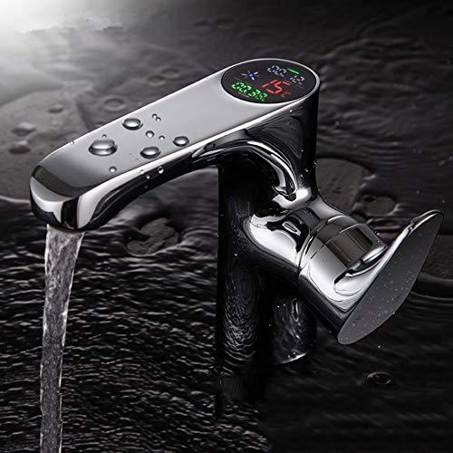 Sebasty Nueva Pantalla Digital De Cobre del Grifo del Lavabo del Grifo del Baño Lavabo del Baño del Grifo del Lavabo del Grifo del Lavabo